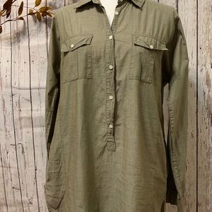 J Crew Olive shirtdress